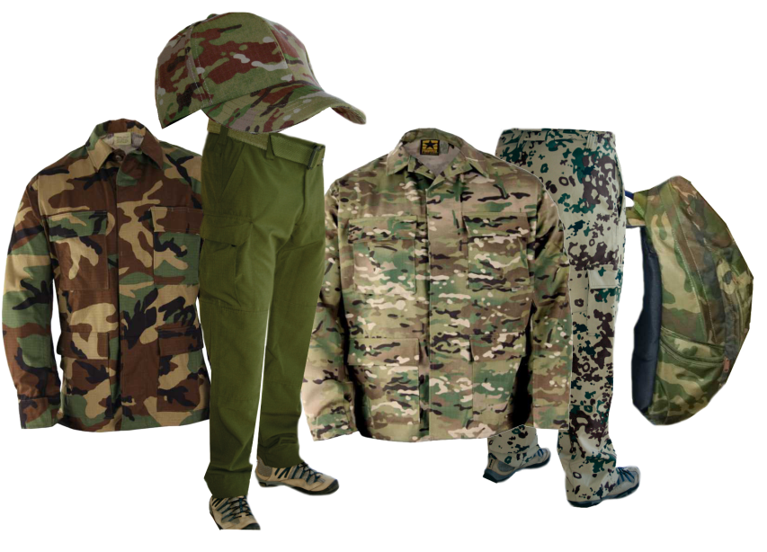 edd7efe1334c3 Various camouflage clothing Various camouflage clothing for varied  environments and seasons
